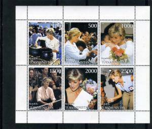 Turkmenistan 1998 (Russia Local) Lady Diana Spencer Sheet Perforated mnf.vf