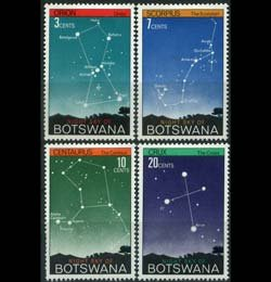 BOTSWANA 1972 - Scott# 84-7 Constellations Set of 4 NH