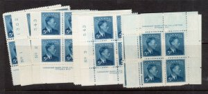 Canada #288 Mint Plates #1 #2 #3 Match Sets All But Two Blocks Are Never Hinged