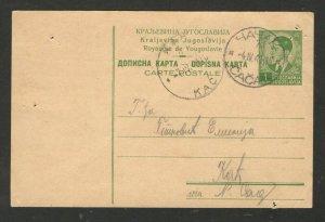 SERBIA  OCC SERBIA - TRAVELED RARE POSTCARD - SEE DESCRIPTION - 1941.