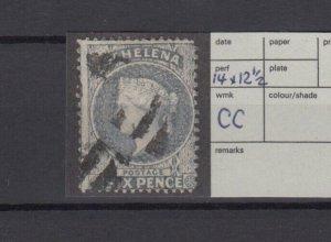 St Helena QV 1864 6d Milky Blue SG25 Fine Used JK6278