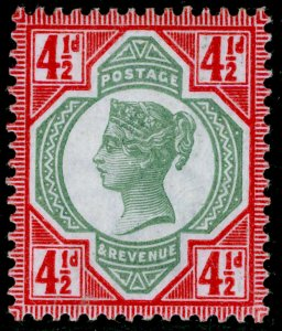 SG206 SPEC K34(1), 4½d green & carmine, NH MINT. Cat £17.