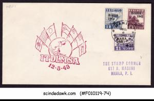 PHILIPPINES MANILA - 1943 CHARITY STAMPS BAHA ITDLMSA SPECIAL COVER WITH CANCL.
