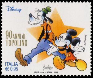Italy 2017 Mickey Mouse and Goofy mint**