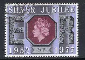 Great Britain  #811  cancelled  1977  Silver Jubilee  9p