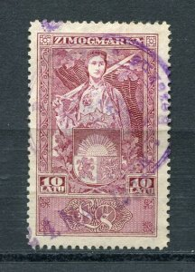 x162 - LATVIA 1928 Issue General Duty REVENUE Stamp. Top Value. Fiscal