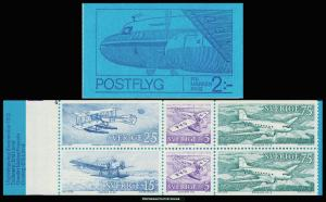 Sweden MNH 939a Historic Planes Booklet 1972