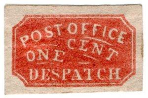 (I.B) US Local Post : Post Office Despatch 1c