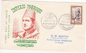 Morocco - Northern Zone # 21, Surcharged Stamp, First Day Cover