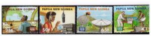 PAPUA NEW GUINEA 1996 Centenary of Radio Scott 902-905 complete set MNH