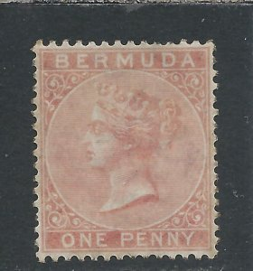 BERMUDA 1865-1903 1d PALE ROSE MM SG 2 CAT £140