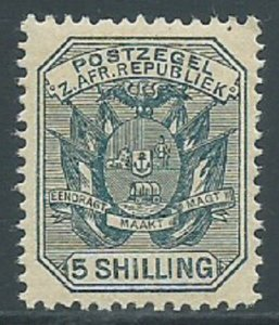 Transvaal, Sc #160, 5sh MNH