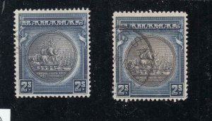 BAHAMAS # 90-90a VF-2sh SEALS FROM THE HILLSON COLLECTION CAT VALUE $46.50