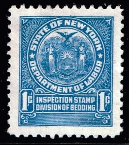 US STAMP BOB REVENUE STATE OF NEW YORK DEPARTMENT OF LABOR  TAX PAID STAMP
