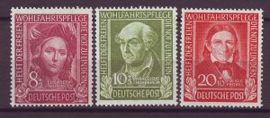 J25178 JLstamps 1949 germany part of set mlh #b310-12 famous people