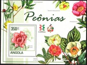 Angola 2011 Flowers Peonies S/S MNH