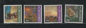 Gibraltar #722-25 (1999 Mary Celeste Sailing Ship set) VFMNH CV $4.20