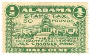 (I.B) US Revenue : Stamp Tax ½c (Alabama)