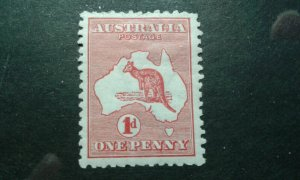 Australia #2 mint hinged wmk 8 die I e202.6658