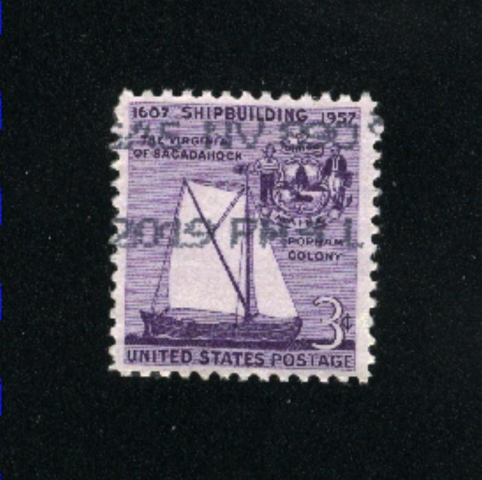 USA #1095 used 1957 PD .08