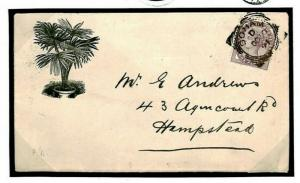 GB Cover SUFFOLK HORTICULTURE *Red House Nurseries* Advert 1891 {samwells}C06a