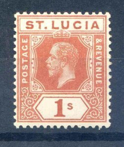 St Lucia SG86 Mounted Mint