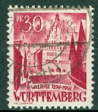 Germany - French Occupation - Wurttemberg - Scott 8N23