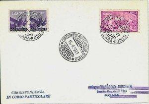 25270  CARTONCINO CON ANNULLO SPECIALE : CIRCUITO AUTOMOBILISTICO PESCARA 1948