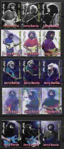 MONGOLIA JERRY GARCIA - GRATEFUL DEAD POSTAGE STAMPS - BOB GRUEN PHOTOS!