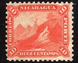 1869 Nicaragua 10c, MH, Sc 6