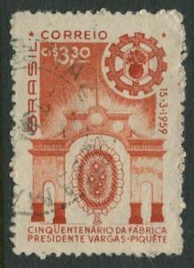 Brazil - Scott 900 - Factory Entrance - 1959 - Used- Single 3.30cr Stamp