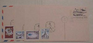 BELGIUM  MIXED USA 1972 on 4 DIFF. POSTAL CARDS