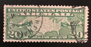 C9 Map Air mail 20 Cents, Circulated Single, Vic's Stamp Stash