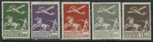 Denmark 1925-29 1st Airmail set mint o.g.hinged