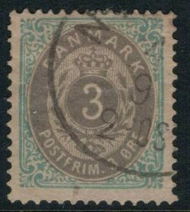 Denmark #25 CV $15.00 Early postage stamp