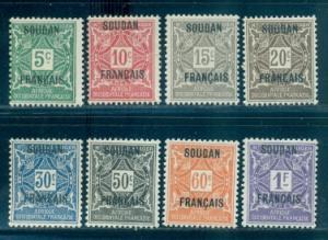French Sudan #J1-J8  Mint  Scott $10.45
