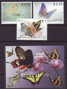 Kosovo 2012 butterflies insects set+s/s MNH
