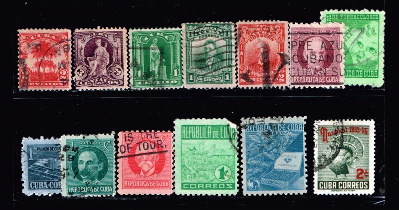 US STAMP CUBA STAMP USED STAMP COLLECTION  LOT #2