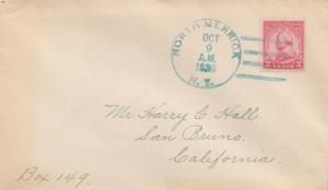 United States New York North Merrick 1930 blue 4c-bar  1926-1933  Philatelic.