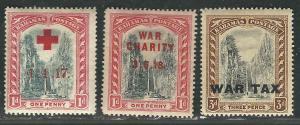 Bahamas BOB Trio B1-2, MR10 MH F/VF 1919 SCV $3.15