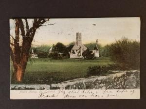 1907 Winthrop Massachusetts Adare Abbey County Limerick Ireland Postcard Cover