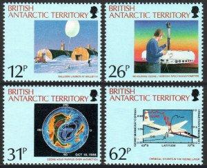 British Antarctic Territory 176-179, MNH. Ozone Hole over Antarctica. Plane,1991