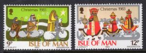 Isle of Man 252-253 Christmas MNH VF