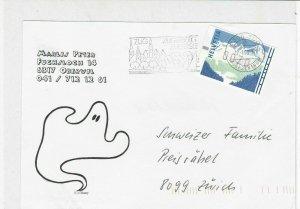 switzerland 1998 atm vending machine stamps cover ref 19250