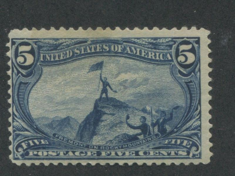 1898 US Stamp #288 5c Mint Hinged F/VF Original Gum Catalogue Value $90