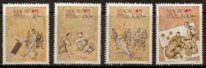 MACAU SG698/701 1989 TRADITIONAL GAMES MNH