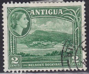 Antigua 109 Used 1953 Nelson's Dockyard 2¢