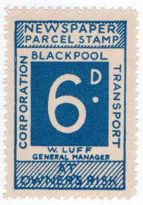 (I.B) Blackpool Corporation Railway : Newspaper Parcel 6d