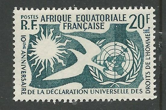 French Equatorial Africa # 202  Human Rights Declaration (1) Mint NH