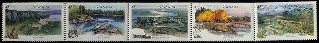 Canada - 1994 Heritage Rivers Strip of 5 mint #1515a